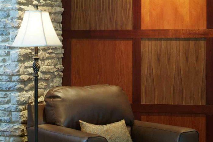 Holzfliesen Holzpaneele Holzverkleidung Fliesen Holzoptik Wohnideen Holz Wand