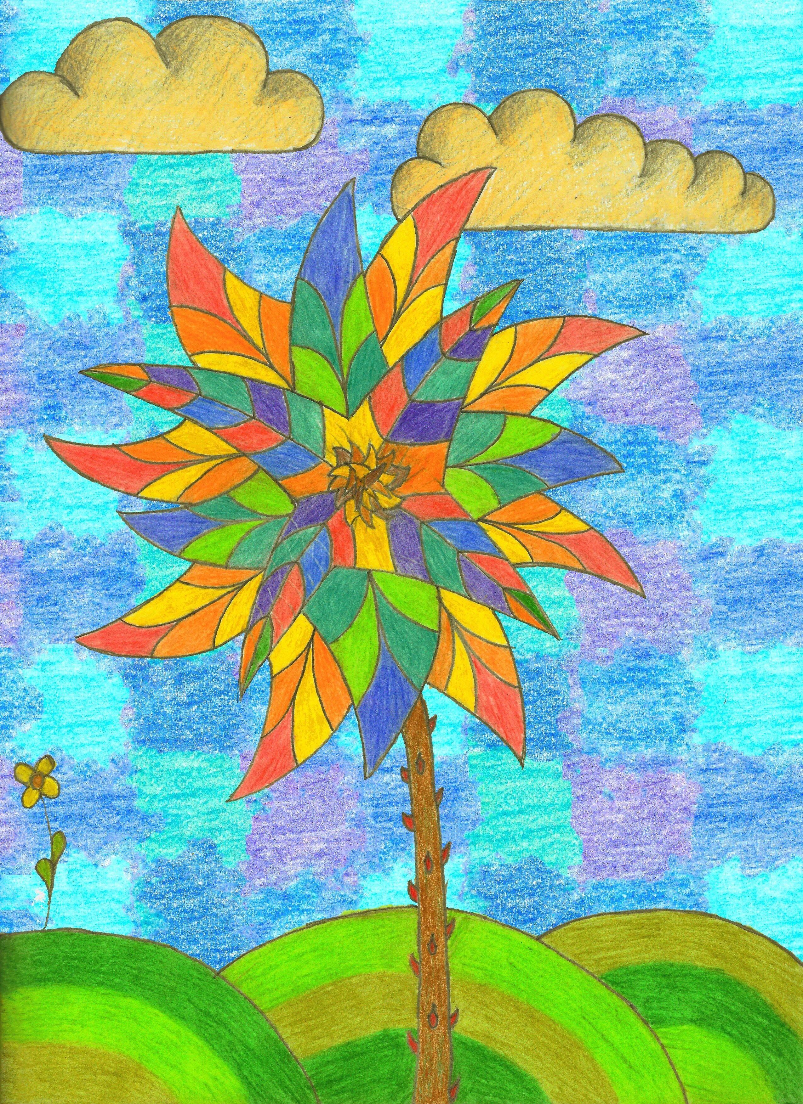 A psychedelic flower psychedelic psychedelic trippy art