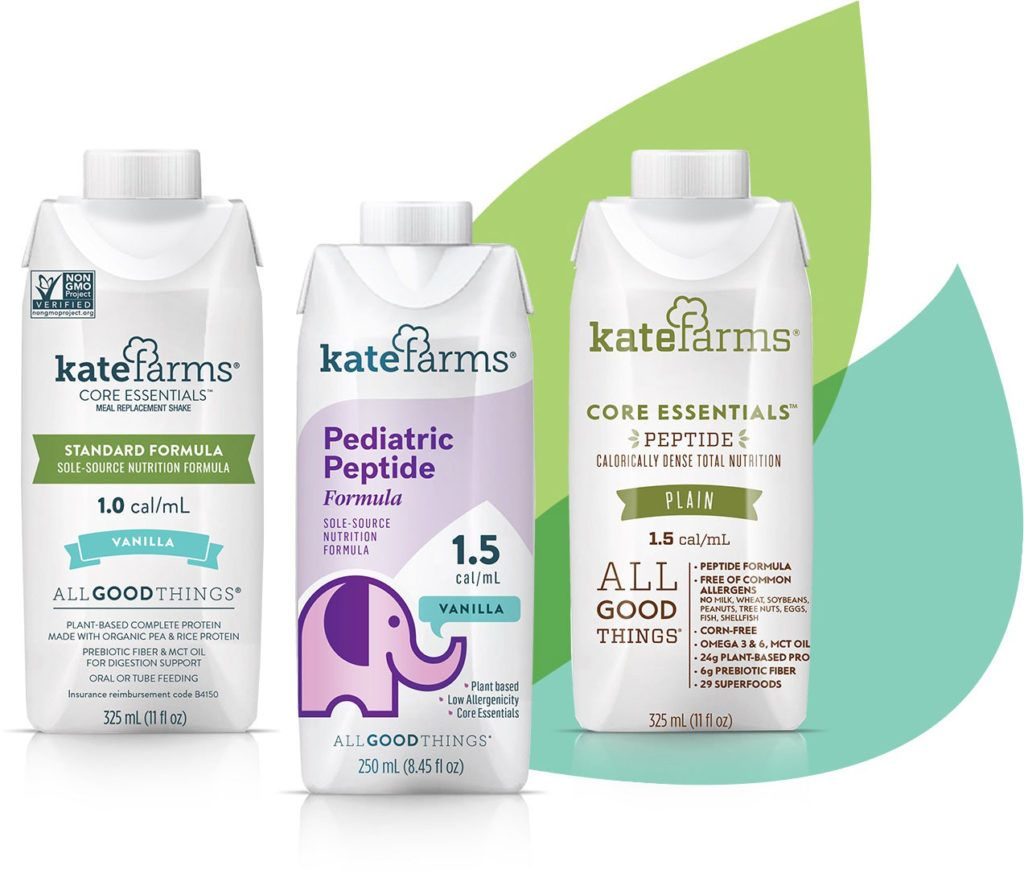Kate Farms Essential Plant Based Formulas For Better Nutrition Medical Facts Medically Complex Children Feeding Tube