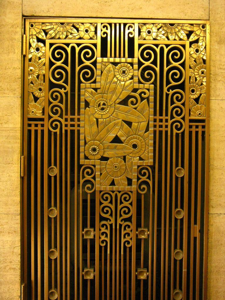 art deco grill | Uși, porți... | Pinterest | Art deco, Doors and ...