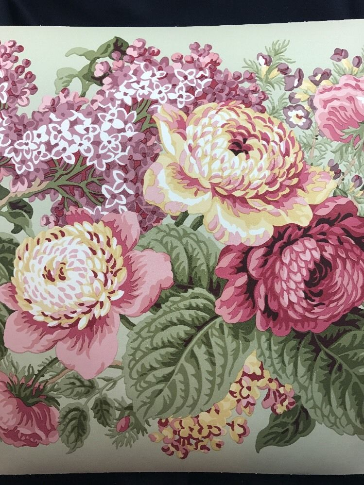 Waverly Wallpaper Border Floral 5503561New Sealed ...