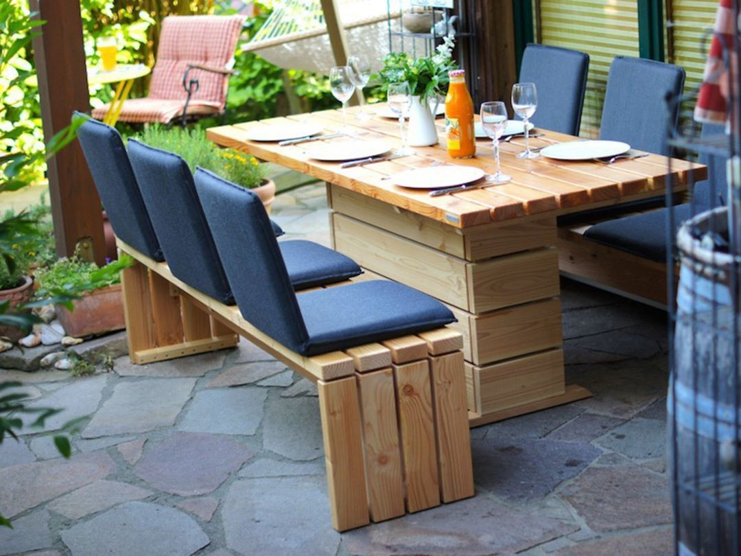 Gartenmöbel Set 2 aus heimischem Holz, Douglasie - www.binnen-markt ...