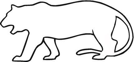 Tiger In Savanna Coloring Page