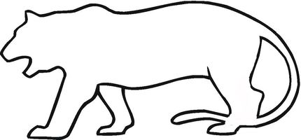 Tiger Outline Tattoo Idea Just Add Stripes With Images Tiger