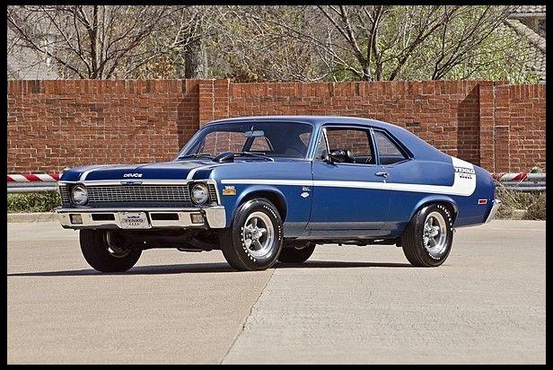 1970 Chevrolet Nova Yenko Deuce 350 Cid 370 Horsepower Small Block Lt1 Option Code Blue With White Stripes Chevy Muscle Cars Muscle Cars Old Muscle Cars