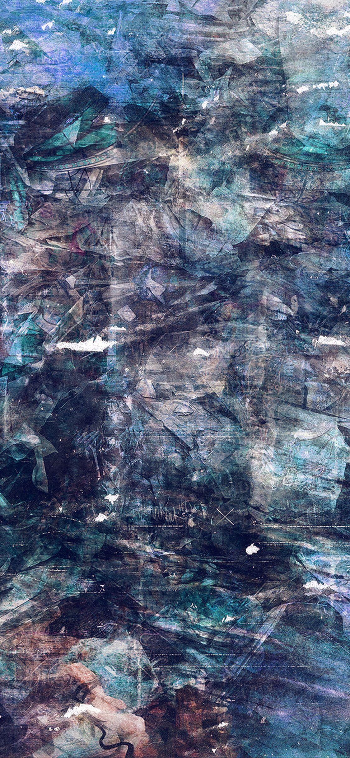 X Wallpapers By Charlotte Sauer Al29 Wonder Lust Art Illust Grunge Abstract Blue Via