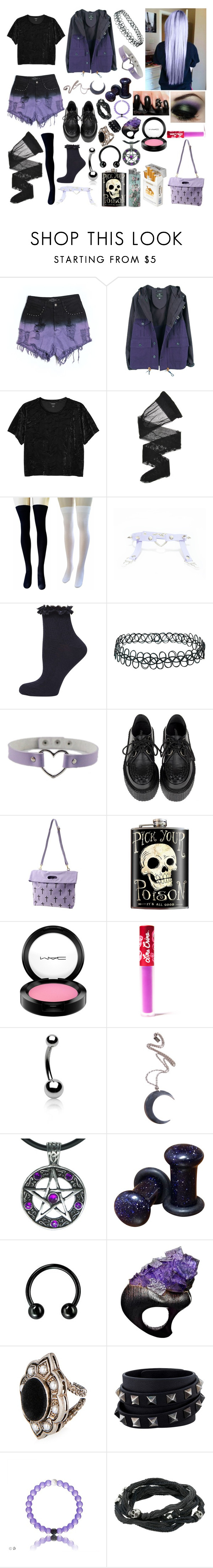 """Untitled #294"" by cupcake125 ❤ liked on Polyvore featuring Evil Twin, Nigel Cabourn, Monki, Wolford, Dorothy Perkins, Topshop, duty free, MAC Cosmetics, Lime Crime and Bling Jewelry"
