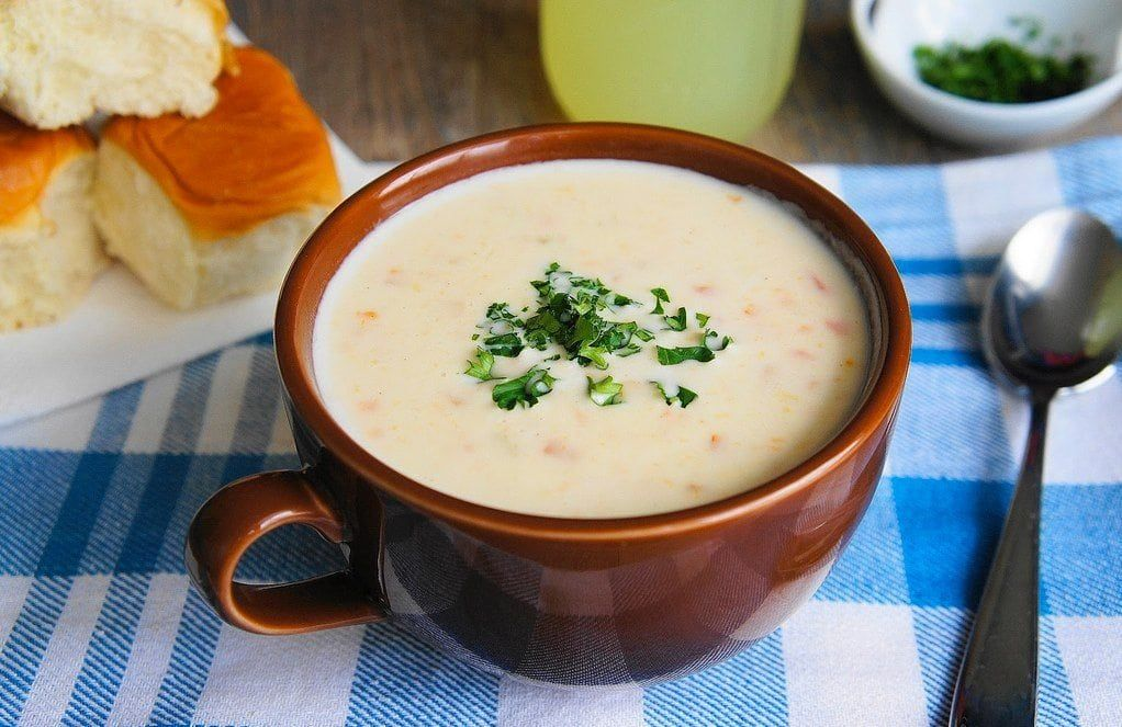 Dolly partons stampede soup recipe and mix creamy