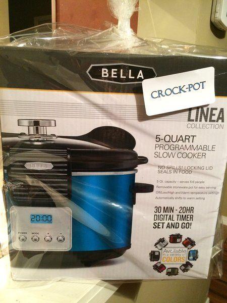 Bella 5 Qt Crock Pot The Doxie Boutique Crock Crockpot Slow Cooker Crock Pot