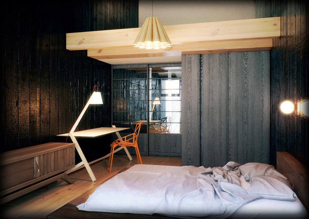 Simple japanese bedroom design modern japanese home for Simple modern interior