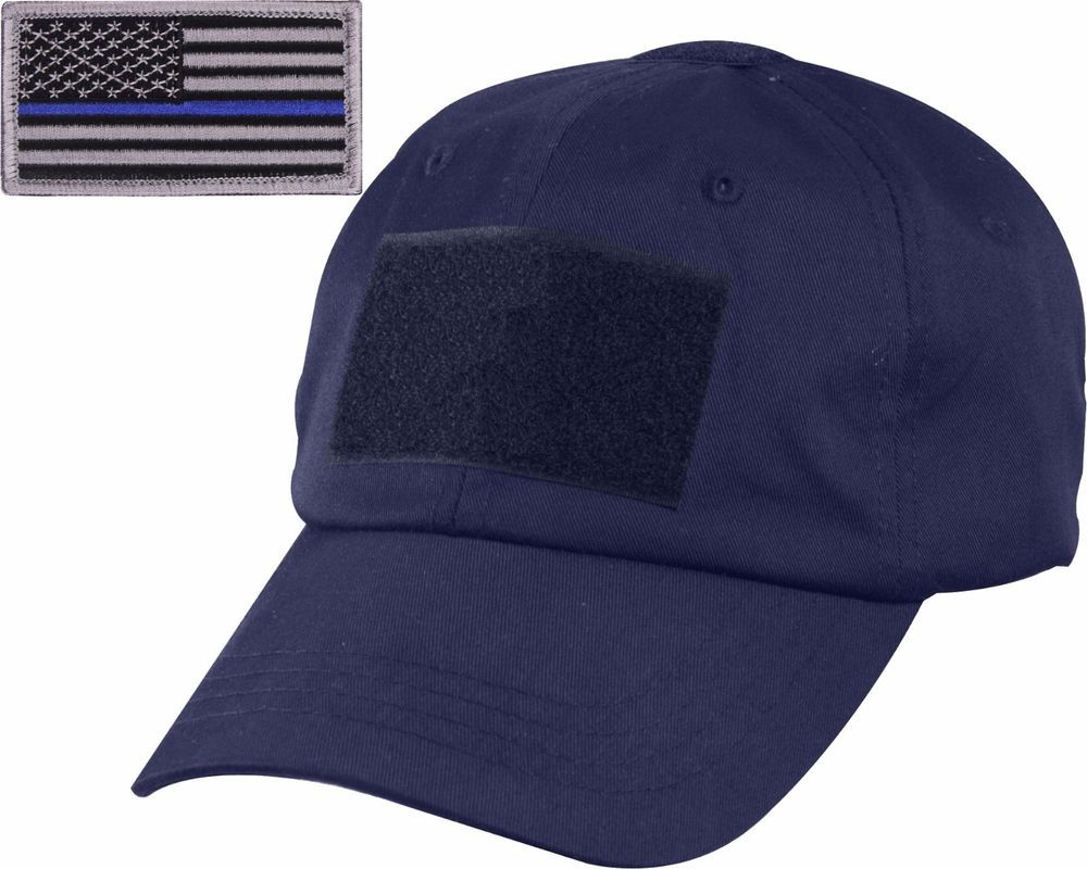 Navy Blue Tactical Operator Cap with Removable Thin Blue Line USA Flag  Patch  ArmyUniverse  OperatorCap 51930f7f366