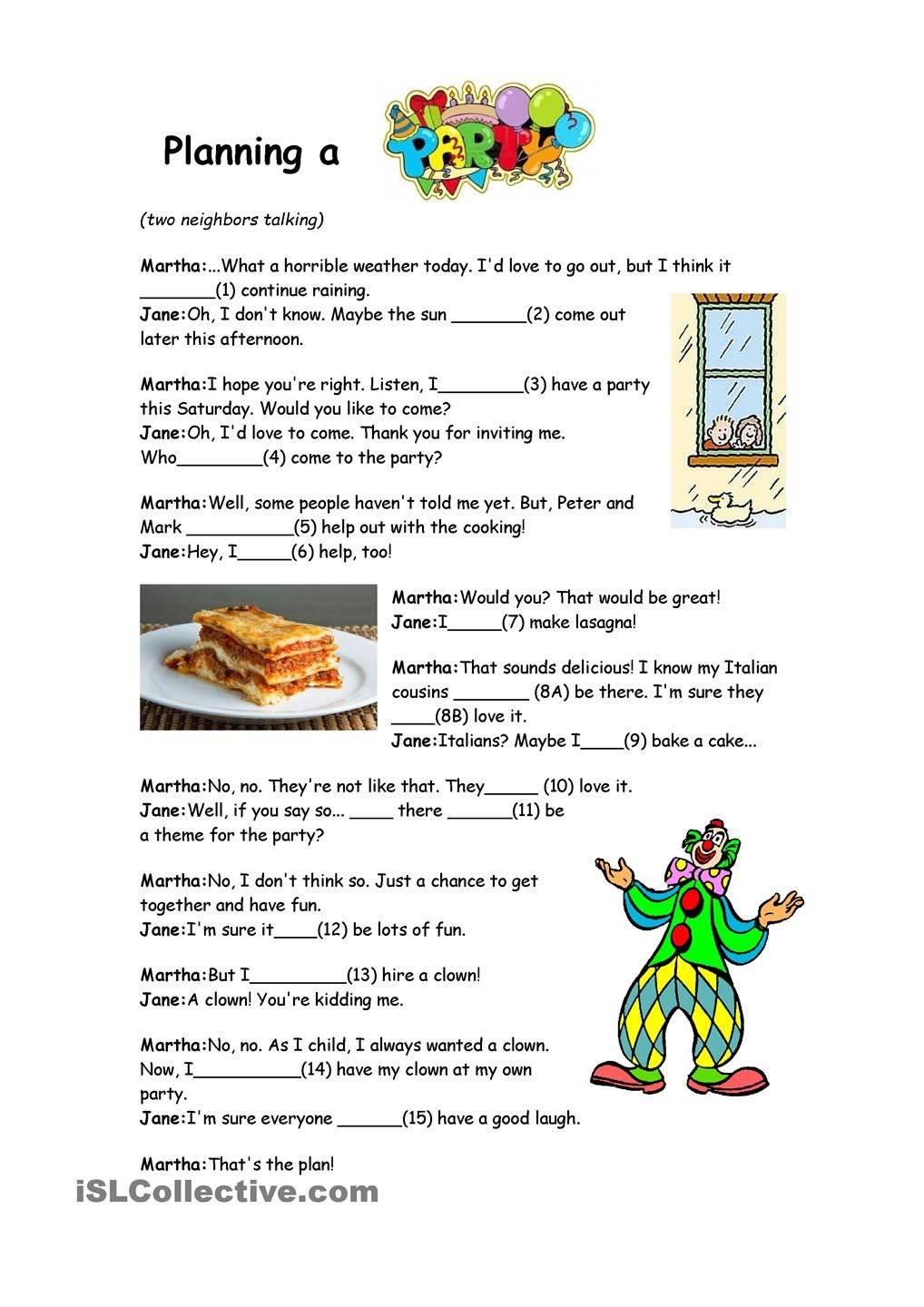 Will and Going to - Reading Comprehension | Imprimibles | Pinterest ...