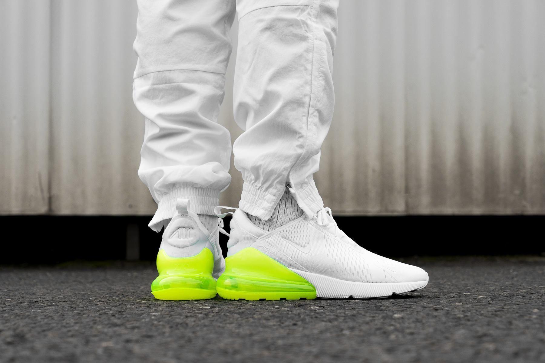 01880b5439d1e Nike Air Max 270 White Volt   Shoes   Nike, Sneakers, Nike air max