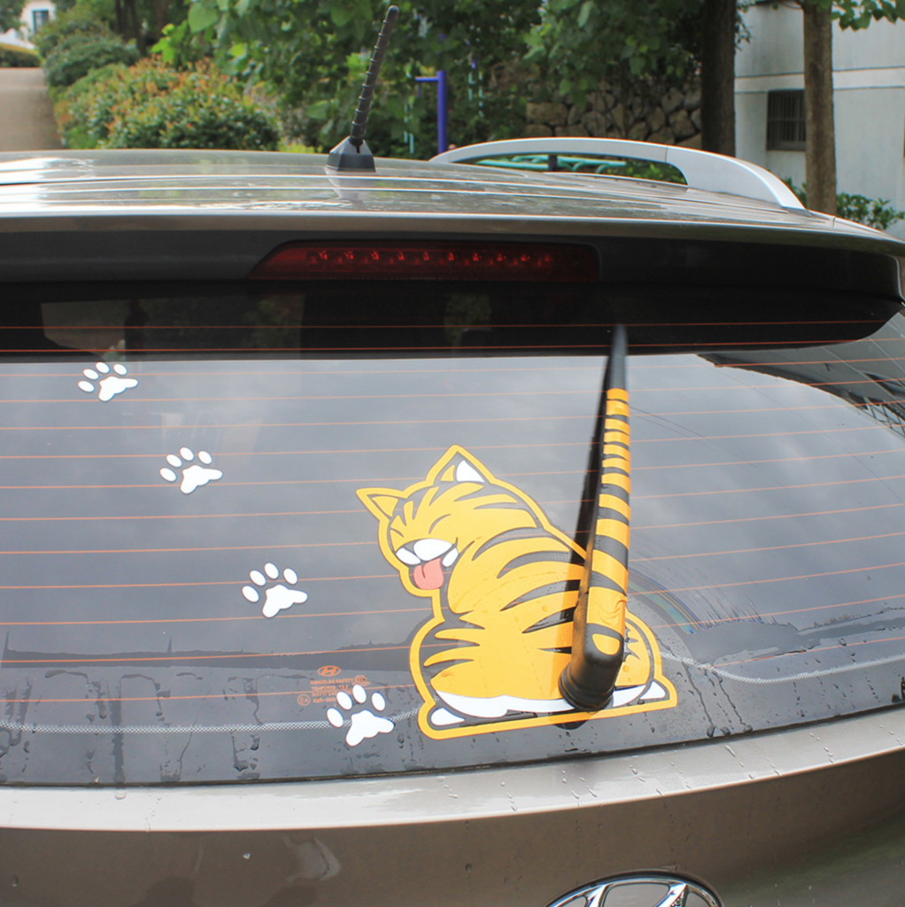 """Best Selling Cat """"Moving Tail"""" Car Stickers 