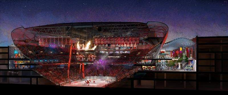 New red wings arena excites city but some worry about