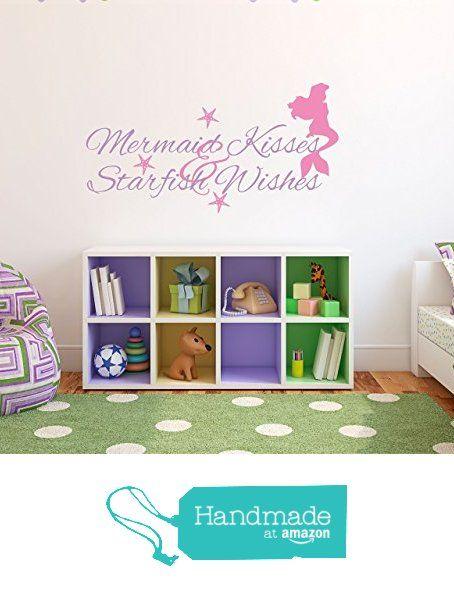 Mermaid Kids Wall Decal from Sticky Wall Vinyl https://www.amazon.com/dp/B017VDKQ3E/ref=hnd_sw_r_pi_dp_gh-LybTZBRPNW #handmadeatamazon
