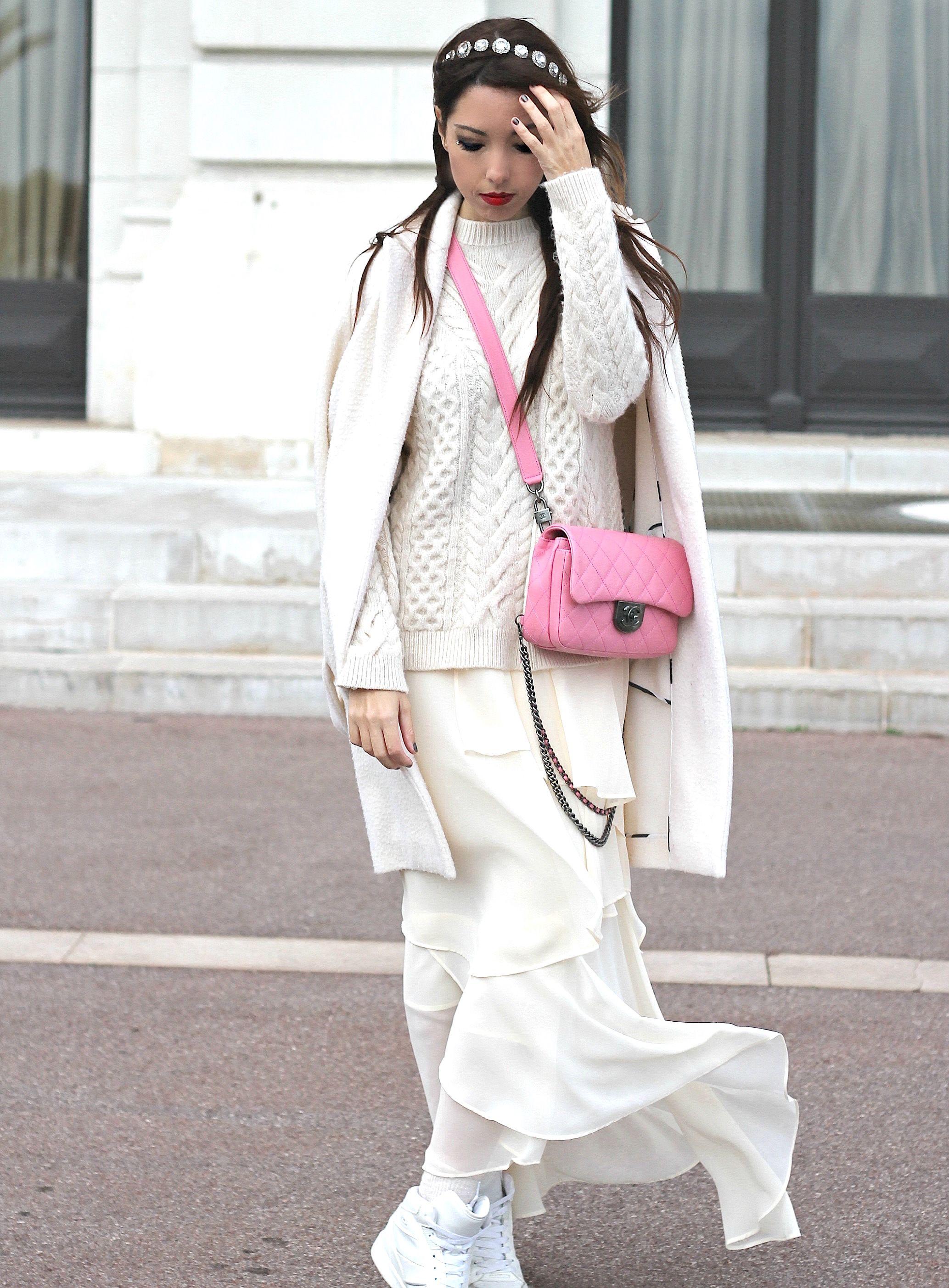 elisa bellino, chanel bag pink, theladycracy.it, fashion blogger italiane famose, fashion blog italia,prospettive lavoro futuro, total white look, zarina outfit, chanel rosa borsa,