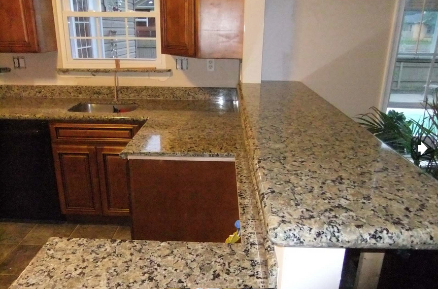 Beige Butterfly Granite Expresso Kitchen Cabinets Decorating