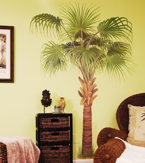 Amazing Palm Tree Wall Decal. My Decor Has Gotta Change...THIS Is My Inspiration.