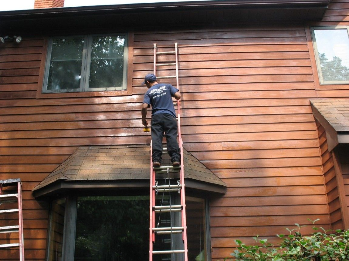 Restoring Cedar Siding By Deck Restoration Plus Restore