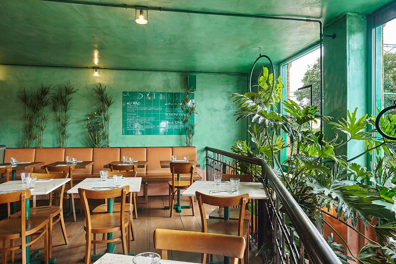 jungle fever at bar botanique café tropique | bar, industrial chic
