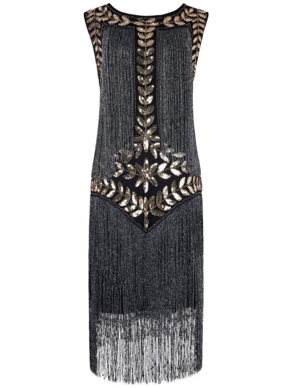 PrettyGuide Women\'s 1920s Vintage Sequin Full Fringed Deco Inspired ...