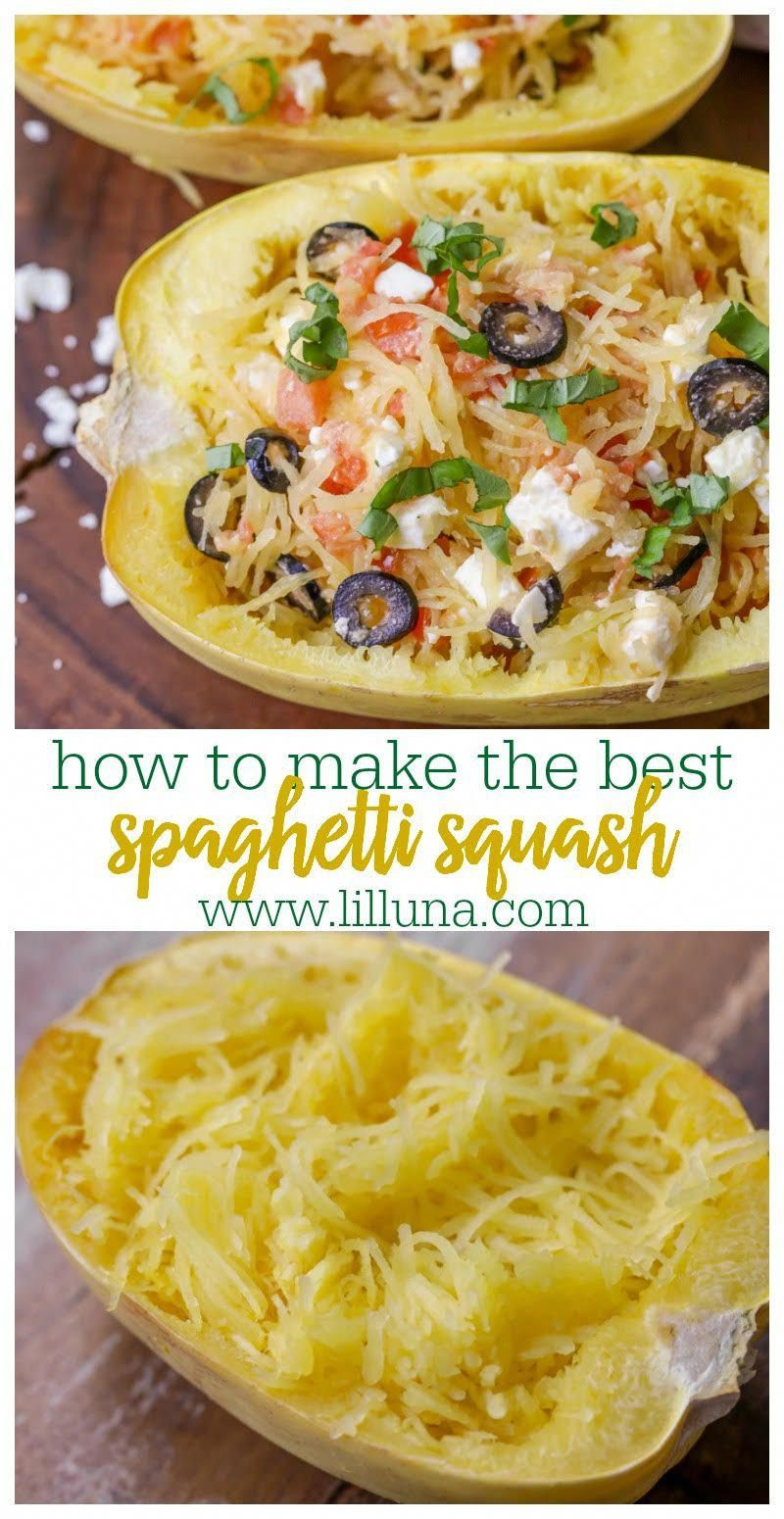 Learn How to Make the Perfect Spaghetti Squash - 4 Ways! | Lil' Luna #spagettisquashrecipes