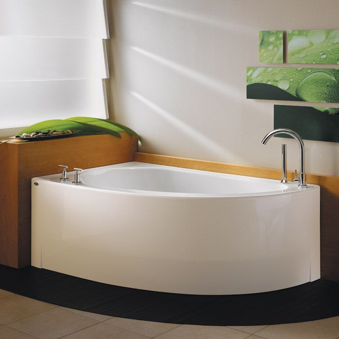 Wind Corner Tub   60 X 36 Whirlpool, Air Or Soaking Tub