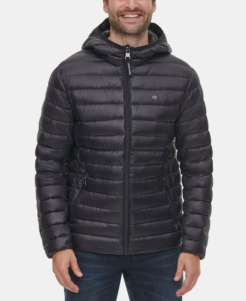 Calvin Klein Men S Packable Down Hooded Puffer Jacket Created For Macy S Reviews Coats Jackets Men Macy S Puffer Jacket Black Puffer Jackets Calvin Klein Men [ 1012 x 828 Pixel ]