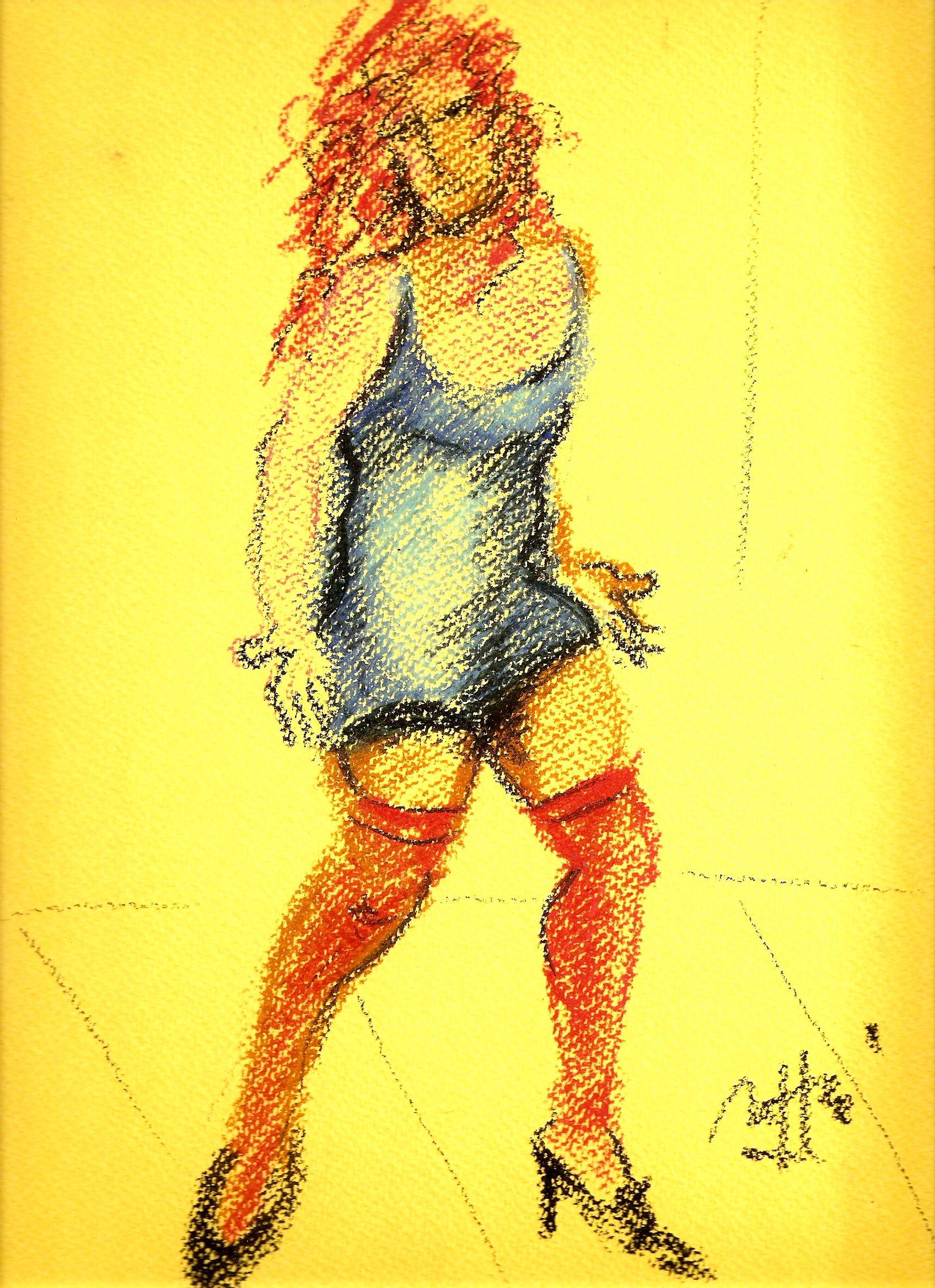 """""""Donna con calze"""" by Massimo Maffei"""