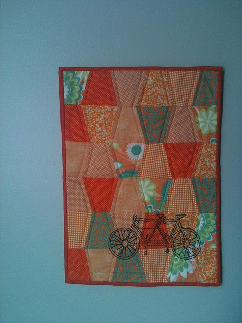 A tandem on a quilt - LOVE THIS!!!