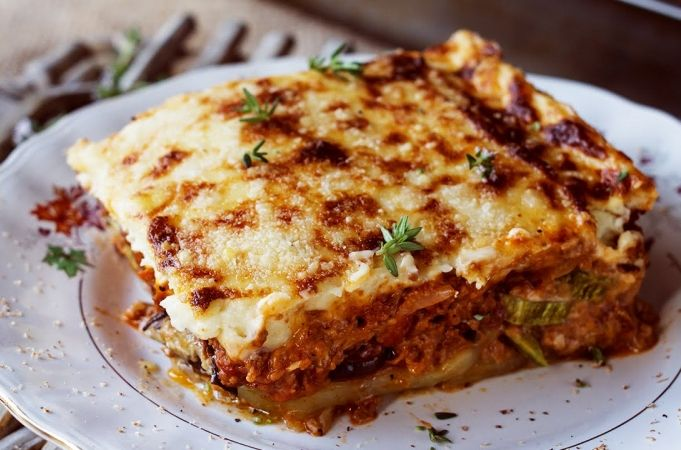 Vegetarian Moussaka Recipe Jamie Oliver Aubergine Recipes Recipe Moussaka Recipe Veggie Moussaka Moussaka Recipe Greek