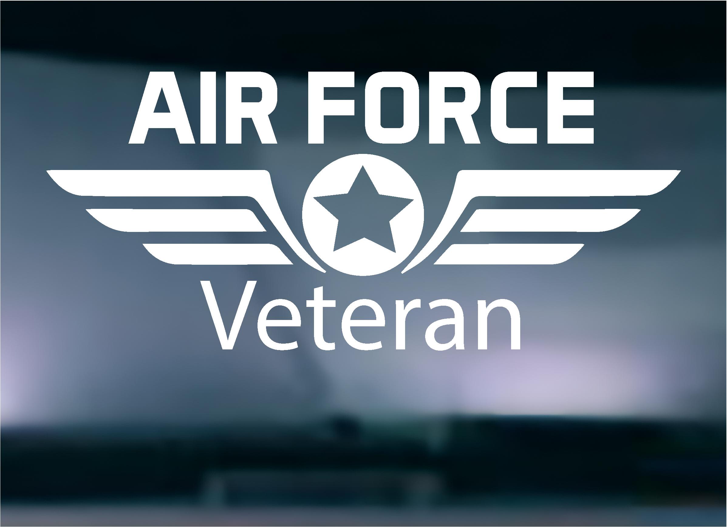 Air Force Veteran Vinyl Graphic Decal Air force veteran