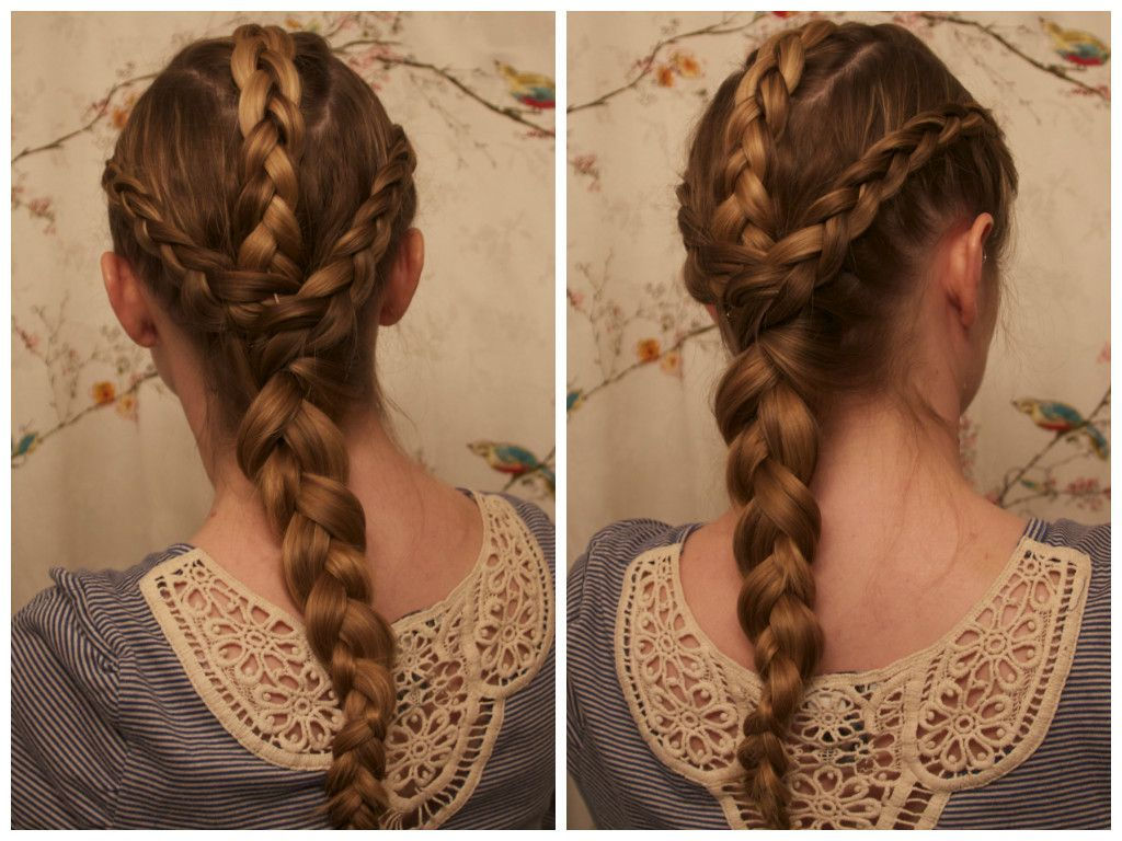 Once Upon A Time In Wonderland Inspired Hair Alice S Triple Dutch Braid Hair Styles Cool Hairstyles Dutch Braid