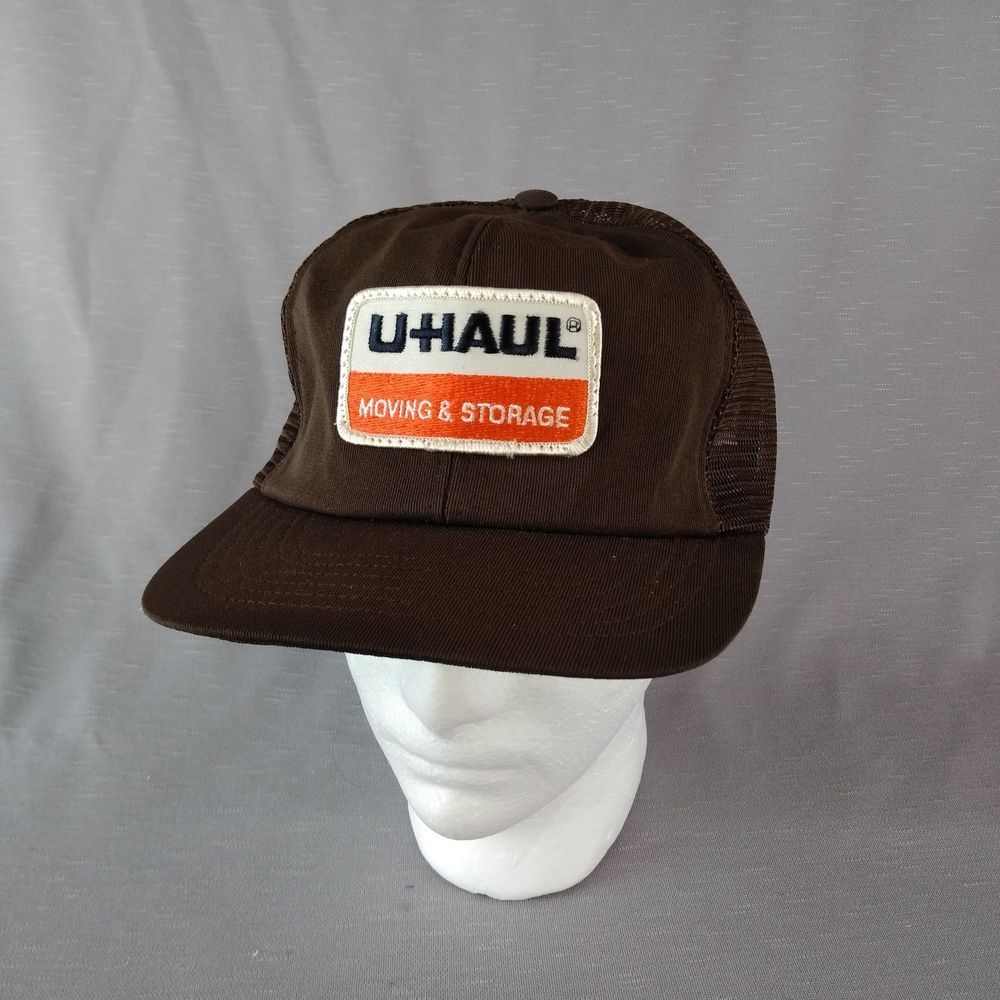 8720a9950 Brown U Haul Mesh Snap Back Hat Patch Foam Liner Made in USA ...