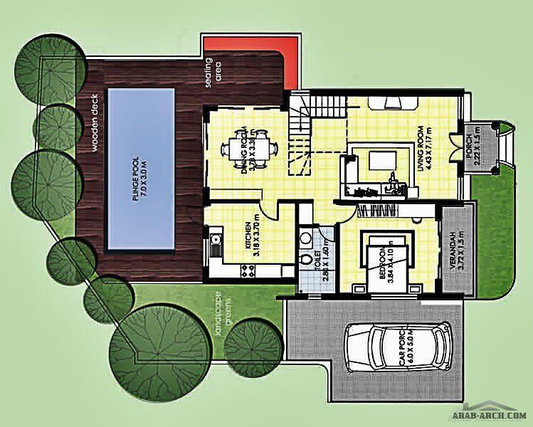 فيلا 4 غرف نوم 3ماستر صغيرة المساحة مسبح خارجى Diy Canvas Art Diy Canvas Design