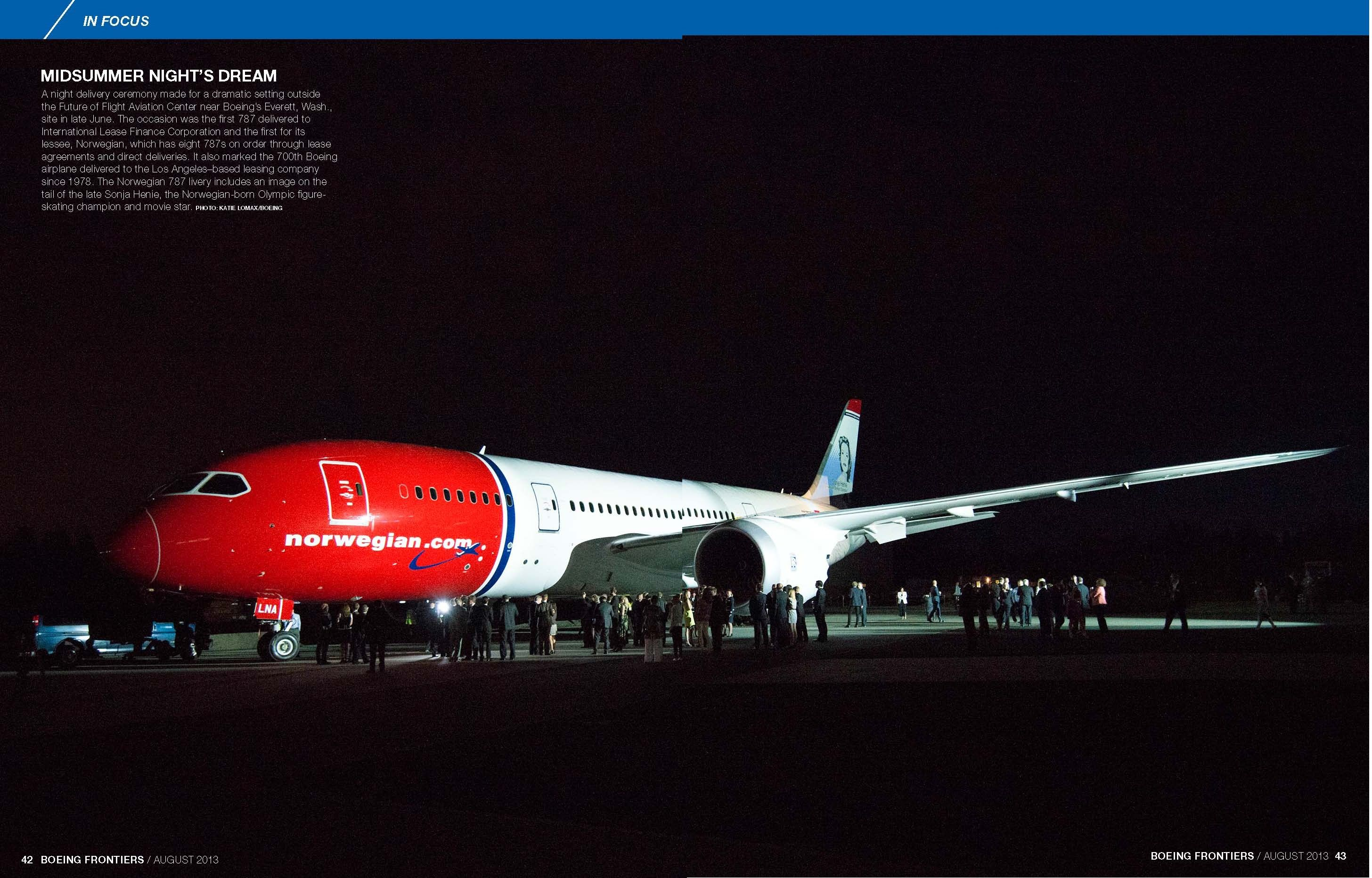 First 787 delivered to International Lease Finance