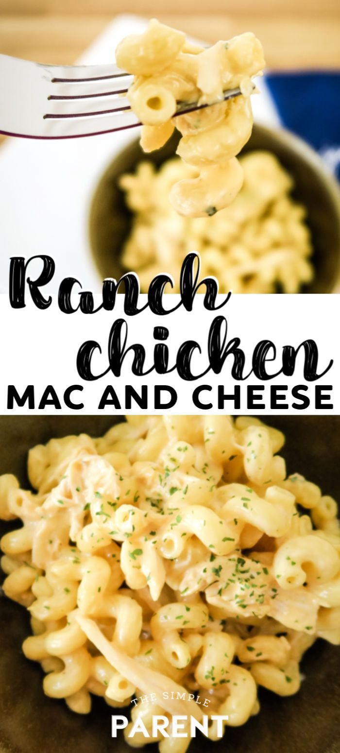Ranch Chicken Macaroni and Cheese #quickandeasydinnerrecipes