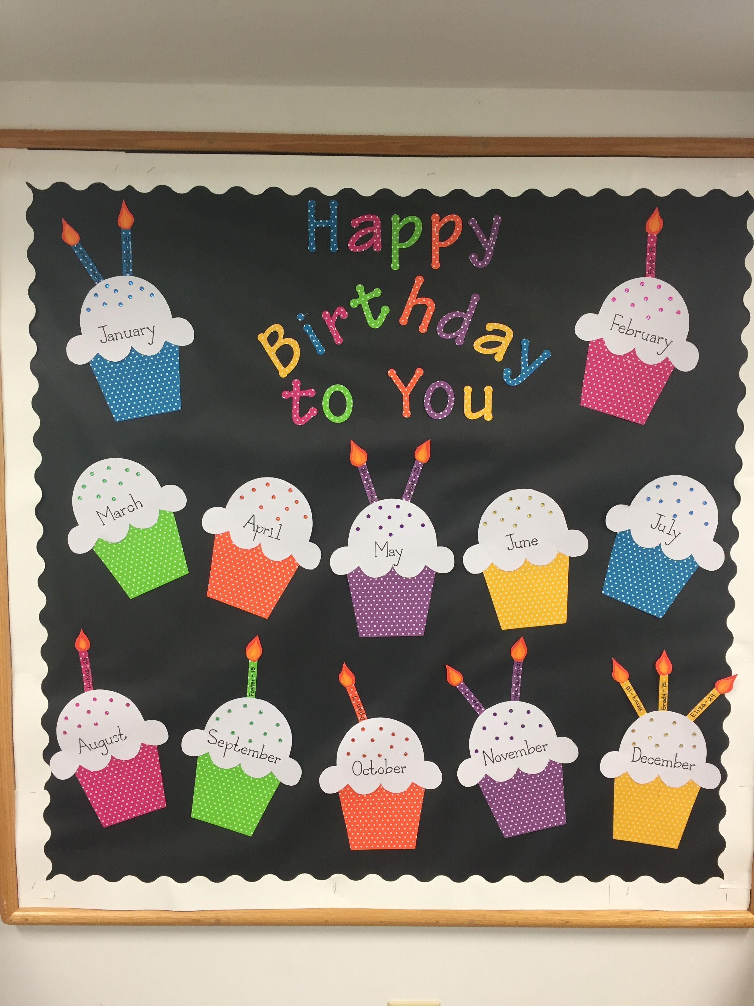 Birthday Bulletin Board For Preschool Class