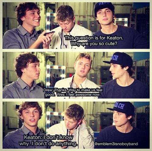 Lol Keaton is just naturally beautiful, come on Emblems we already know this....