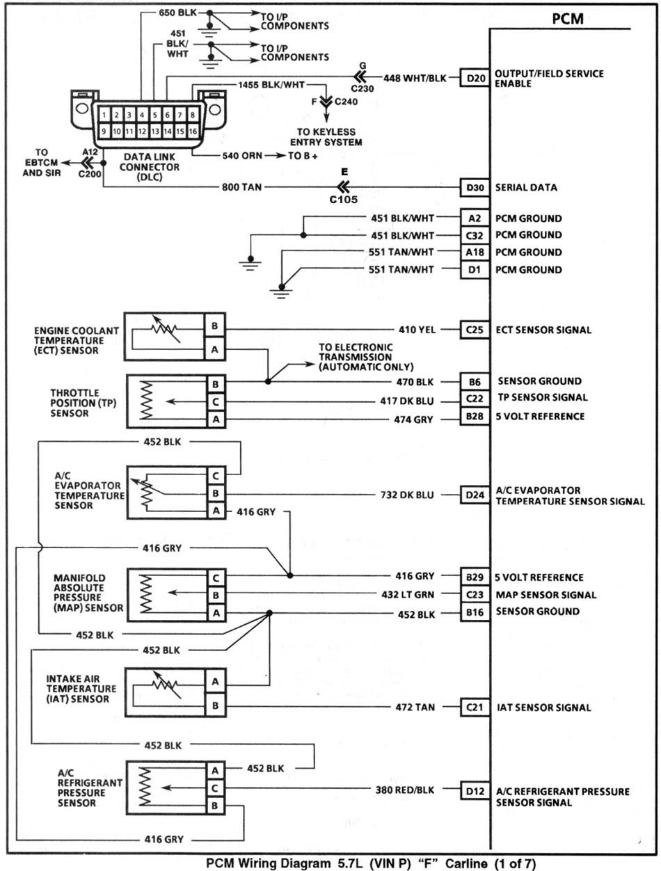 Enlarge Pcm Wiring Page 1 With Images Body Tech Garage