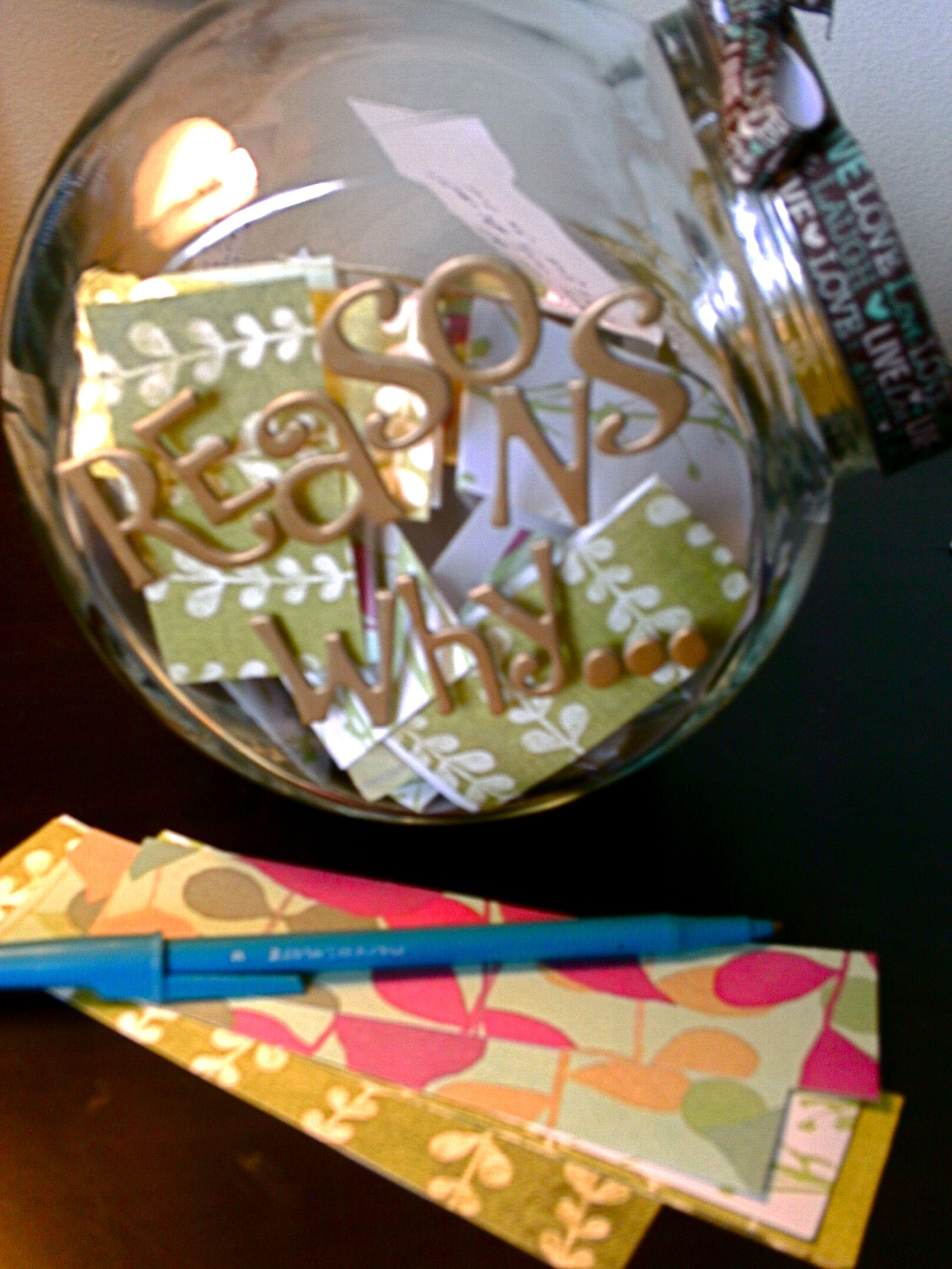 2 year Anniversary present to my boyfriend. Buy a glass jar from Hobby Lob… | Handmade ...