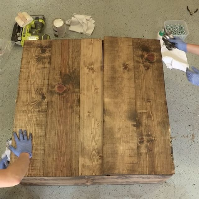 3 Tips For The Perfect Stain Every Time Shanty2chic Happysaturday We Are Using Varathane Stain No Varathane Wood Stain Wood Conditioners Perfect Stain
