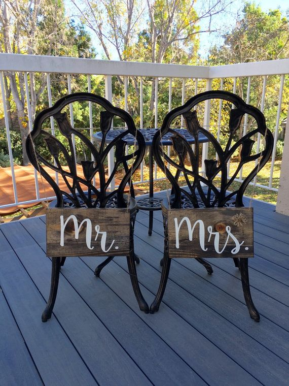 Mr. and Mrs. SignsMr. and Mrs. DecorWedding by DodsonDecor on Etsy