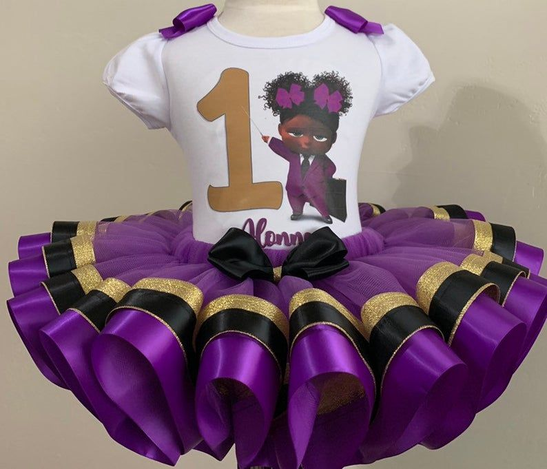 Baby Boss girl Tutu Outfit,First Birthday outfit, Tutu set
