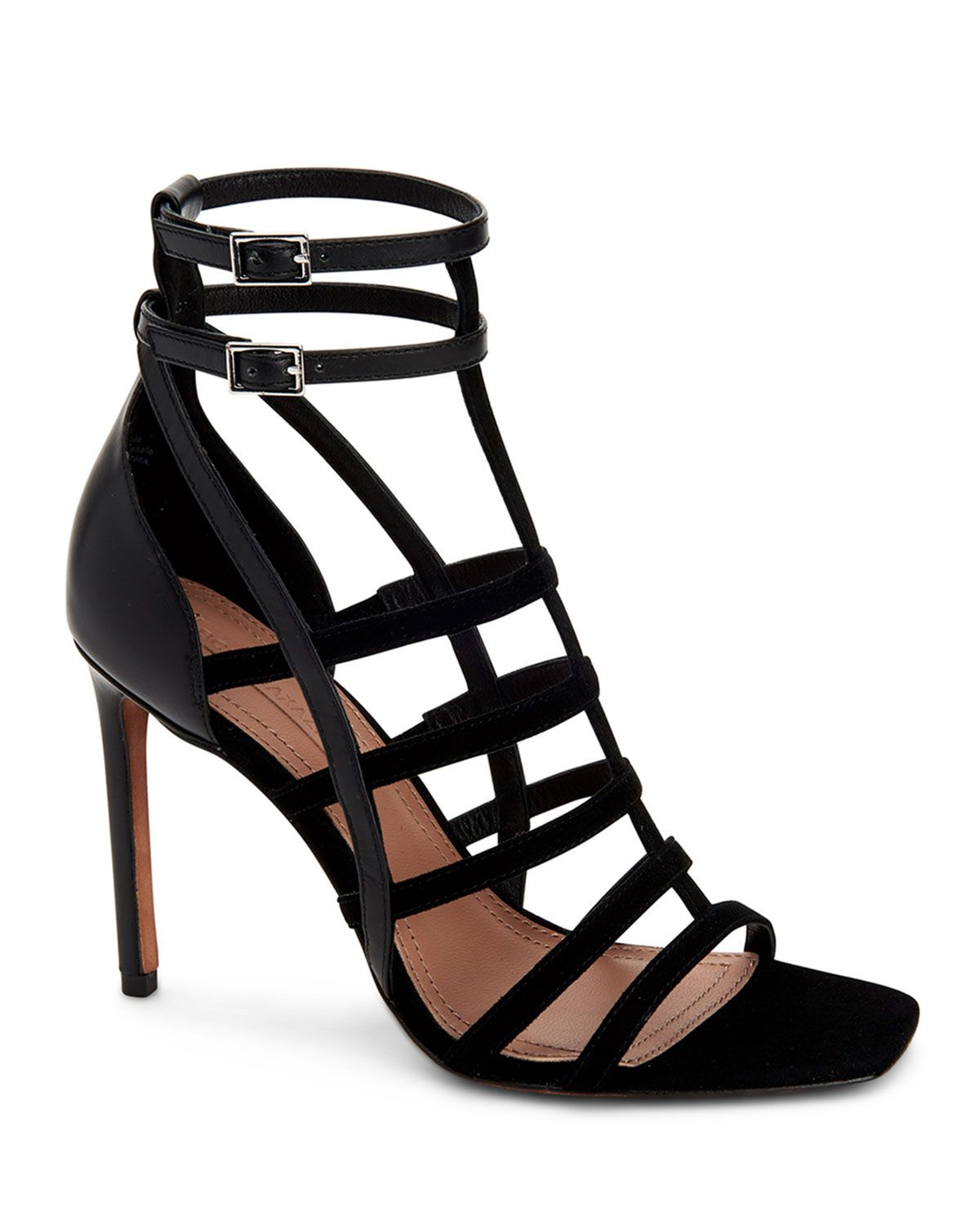 Bcbgmaxazria Ilsa Caged Dress Sandals Women S Shoes In Black Patent Modesens Strappy Leather Sandals Women Shoes Caged Sandals