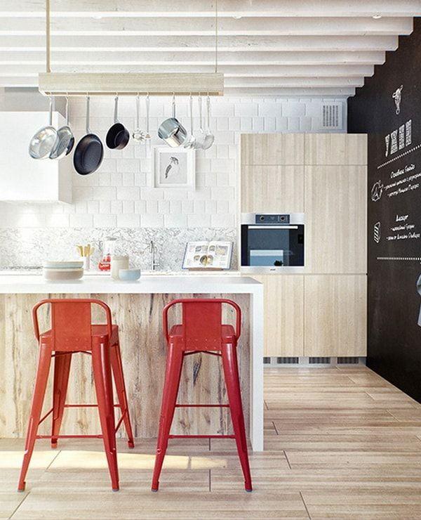 Estilo Escandinavo E Industrial En Una Casa De Tres Plantas Diseno De Cocina Barras De Cocina Cocina Industrial