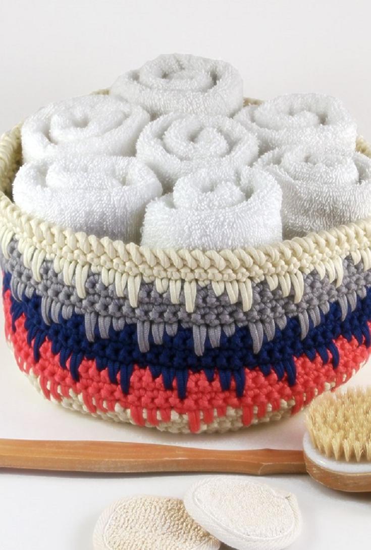 15 Amazing Free Basket crochet patterns | Flohmarkt, Häkeln und Häckeln