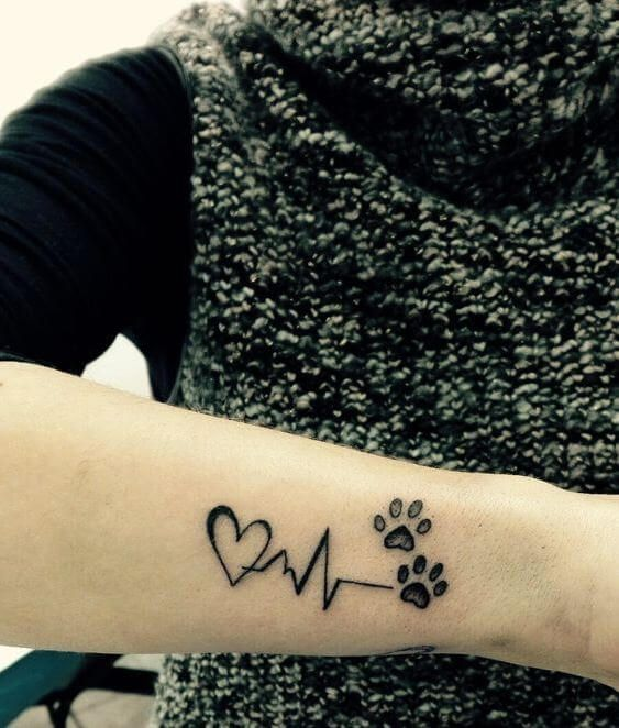 Paw Print Tattoo Ideas Topstoryfeed Pawprint Tattoo Paw Print Tattoo Print Tattoos