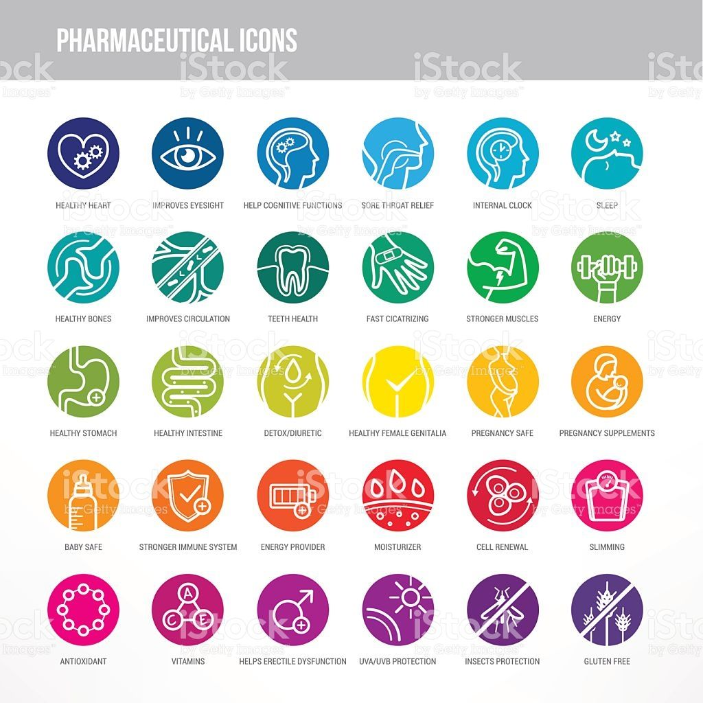 Pharmaceutical Medical Icons Set For Medical Packaging On Organs And 医療アイコン 医療ロゴ 医療